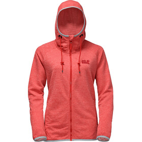 Jack Wolfskin Tongari Hooded Jacket Women fiery red